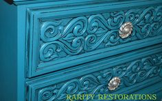 Turquoise end table Rarity, End Tables, Restoration, Decorative Boxes, Turquoise, Furniture, Ideas, Home Decor, Mesas