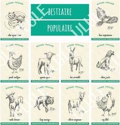 """Le""""bestiaire populaire"""" des contes auvergnats est maintenant disponible !Une série de dessins exclusifs réservés aux contributeurs du projet, faisant un don sur Ulule.https://fr.ulule.com/il-etait-une-fois-lauvergne/"""