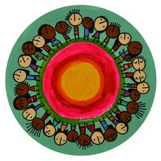 De la serie Rondas al Aire Libre – C007 - Lucila Manchado Arte Popular, Drawing For Kids, Decorative Plates, Lily, Drawings, Mexico, Colorful, Education, Kid Art