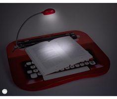 Bandeja para notebook led - maquina de escrever | Uatt? Presentes Para Todo Mundo