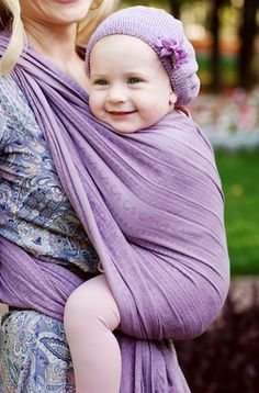 Ellevill woven wrap - Zara Lavender ( 100% Cotton)