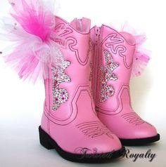 Toddler Swarovski Crystal Pink Cowboy Boots Flower Girl/ First Birthday/ Photos/Fun on Etsy,