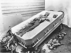 This is Thomas Jefferson Souder and his wife, Mary. They were married for almost 60 years, died within three days of each other, and were buried together in a double casket. Hurst, 1921