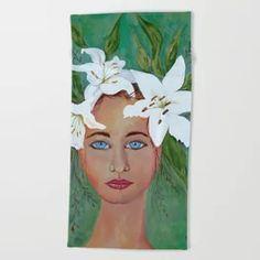 Lily Beach Towel Wall Murals, Wall Art, Outdoor Floor Cushions, Design 24, Acrylic Box, Iphone Skins, Beach Towel, Framed Art Prints, Wall Tapestry