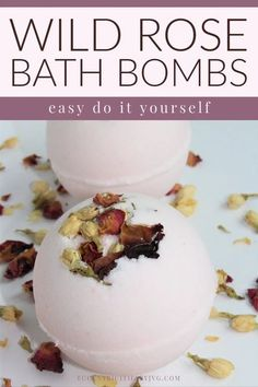 Wild Rose Bath Bombs Do It Yourself - Eccentricities by JVG. Learn how to make these easy DIY bath bomb. This post has the full DIY bath bomb recipe and easy to follow. #diybathbombs #easydiybathbombs #diybathbombrecipe #handmadebathboms #floralbathbombs