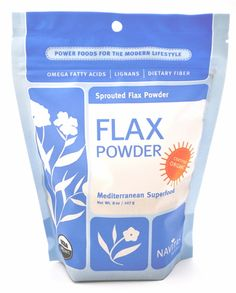 Flax Seed Powder by Navitas Naturals 8 oz., $8.99 www.natureshappiness.com