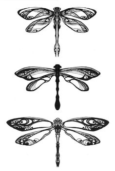 Dragonflies by Pangea-Derlatek Bottom dragonfly, on back of my neck!