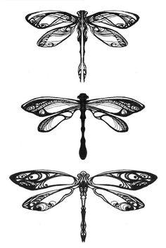 Dragonflies by Pangea-Derlatek Bottom dragonfly, on back of my neck!