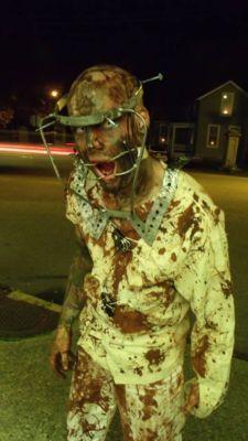 Raw Metal Halloween Halo Costume prop mask medical horror insane asylum zombie