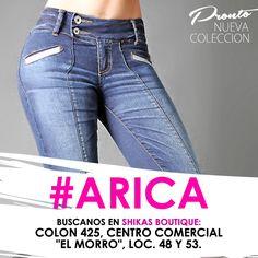 """Arica, también nos encuentras en Boutique Shikas ubicada en calle Colon 425, Centro Comercial """"El Morro"""", loc. 48 y 53."""