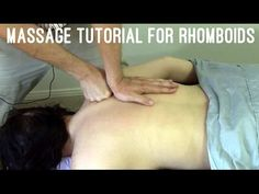 Massage Tutorial: Rhomboids (myofascial release, pain between shoulder blades) - https://www.youtube.com/watch?v=C9AvpcYNerg