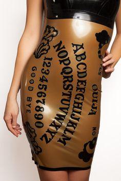 Ouija+Board+Latex+Dress+by+VitalVeinFashion+on+Etsy,+$425.00