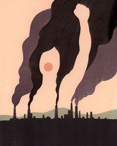 Pollution scene, activist