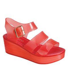 b93dd2ef7a2f18 Coral Romona Sandal  zulilyfinds Plastic Shoes