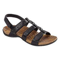 e2b4a98415d Orthaheel- -Women s Yasmin Comfort Sandal - Black Comfortable Sandals