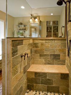 Rustic Grotto Shower Bath Design Ideas Pictures Remodel