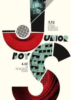 Poster for Junior Boys at Stodoła, in Warsaw, Poland. Design by Dawid Ryski (Talkseek).    -Print