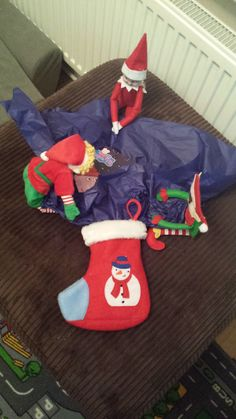 December 15th - The Elves have tried to wrap up a new Peppa Pig book for L and fit it in his stocking :-)