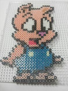 Hamton J. Pig - Tiny Toon Adventures  perler beads
