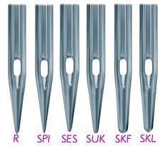 Aprende todo sobre las agujas para máquinas de coser, Partes de la aguja. Tipos de puntas, grosores y usos recomendados.