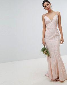 b39845b668f2 Chi Chi London bridal premium lace maxi dress with fishtail in white.  BrudklänningarBröllopsdesserterKvinnaRosorModeSpetsVitKlänningar