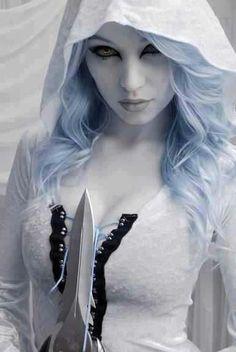 White goth...cool ! http://HalloweenMarketplace.com