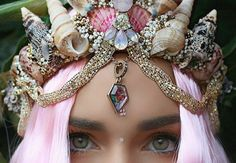 Are any of your beach wedding brides using a mermaid crown? ~ It's a new trend that many are using instead of a flower crown. ~ http://www.self.com/trending/2016/08/mermaid-crowns-are-the-new-flower-crowns-and-theyre-the-prettiest-thing-youve-ever-seen?