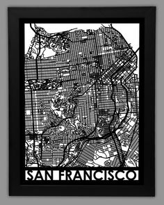 San Francisco Cut Map