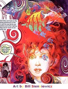 Delerium- Formerly delight, one of the Endless. Sandman- Neil Gaiman.