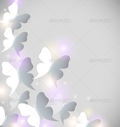 Abstract shining vector background with butterflies. Zip file containsfully editable EPS10 vector file and high resolution RGB Jpe