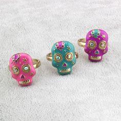 Women's Fashion Jewelry Halloween Skull Band Rings WA68 #Unbranded #skull