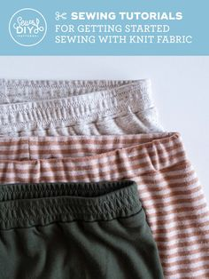 A roundup of video tutorials for learning to sew garments using knit fabric by Sew DIY Sewing Blogs, Sewing Hacks, Sewing Tutorials, Video Tutorials, Sewing Tips, Sewing Ideas, Sewing Projects, Free Knitting, Knitting Patterns