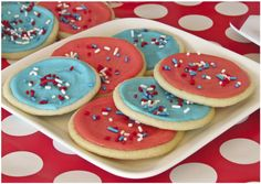 Red, white & blue sugar cookies.