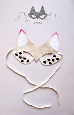 Cool little fox mask with neon tipped ears :) so cute
