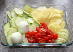 Pečená cukina so zemiakmi a zeleninou - recept postup 1