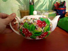 #чайник  #роспись #элементы_петриковской #ягоды