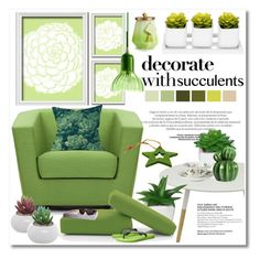 """""""decorate with succulents"""" by nanawidia ❤ liked on Polyvore featuring interior, interiors, interior design, home, home decor, interior decorating, Dot & Bo, Serax, Wedgwood and Joybird"""