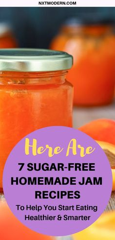 Jam is Laiden with Sugar. Here are 7 Sugar-Free Recipes Here are 7 Sugar-Free Homemade Jam RecipesStore-Bought Jam is Laiden with Sugar. Here are 7 Sugar-Free Recipes Here are 7 Sugar-Free Homemade Jam Recipes Sugar Free Desserts, Sugar Free Recipes, Dessert Recipes, Sugar Free Foods, Drink Recipes, Sugar Free Fruits, Sugar Free Drinks, Diabetic Desserts, Healthy Recipes