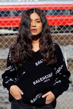 Balenciaga sweater in black and white. You can buy it on farfetch or net-a-porter. Fashionblogger Net A Porter, My Outfit, Balenciaga, Christmas Sweaters, Bali, About Me Blog, Black And White, Stuff To Buy, Outfits