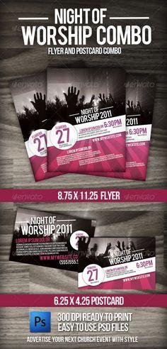 Night of Worship set  #GraphicRiver