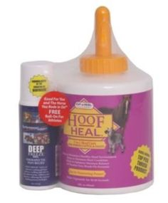 Cut-Heal Hoof Heal w/Free Deep Freeze Roll-On by Cut-Heal. $22.99. Cut-Heal Hoof Heal Hoof Heal 5-in-1 Hoof Care for Horses, Cattle, Sheep & Goats aids in maintaining a healthy frog, sole, heel and coronary band. Aids in preventing brittle, cracked hoof wall and heel. Allows hoof to breathe. All weather easy brush-on-formula. Deep and rapid penetration with one application providing 3-5 days protection. Deep Freeze Therapeutic Pain Relief Gel Roll-On for Athletes Good Fo...