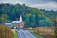 Title  Rural Church In The Fall   Artist  Gallery Three   Medium  Photograph - Photography