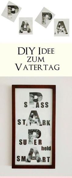 Mother& day and father& day pictures 3 DIY ideas with a .-Bilder zum Muttertag und Vatertag basteln 3 DIY-Ideen mit Anleitung zum selber … Make pictures for Mother& Day and Father& Day 3 DIY ideas with instructions for doing it yourself little love - Diy Gifts For Girlfriend, Diy Gifts For Mom, Diy Gifts For Friends, Great Gifts For Men, Gifts For Father, Ideias Diy, Make Pictures, Mother Pictures, Diy Birthday