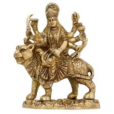"""Durga Hindu Goddess Religious Statue Brass Figurines from ShalinIndia"""