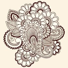 paisley tattoo | Bridal dresses: Mehndi patterns