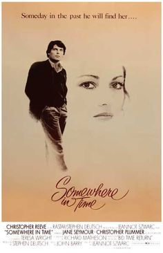 A great poster from Somewhere in Time, the 1980 romantic fantasy film starring Cristopher Reeve and Jane Seymore. Ships fast. 11x17 inches.