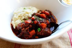 Sunday Night Stew - Olive Oil, Butter, Beef Stew Meat (chuck Roast Cut Into Chunks), Salt And Pepper, Onion, Garlic, Tomato Paste, Beef Stock Or Broth, Sugar, Carrots, Turnips, Parsley  Serve with mashed potatoes.
