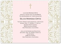 Lots of Wording Ideas and Samples for Quinceanera Birthday Party Invitations