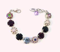 LADY LUCK Swarovski crystal fower bracelet chunky by SiggyJewelry