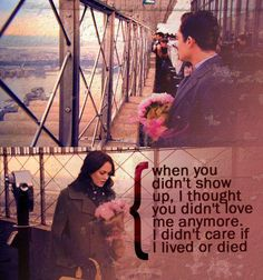 Gossip Girl. Blair & Chuck. Empire State Building. I almost cried when she got there and he was gone